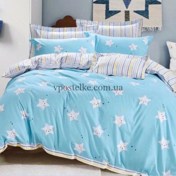 """Ткань сатин """"Маленькая звездочка на голубом"""" компаньон 160 см"""