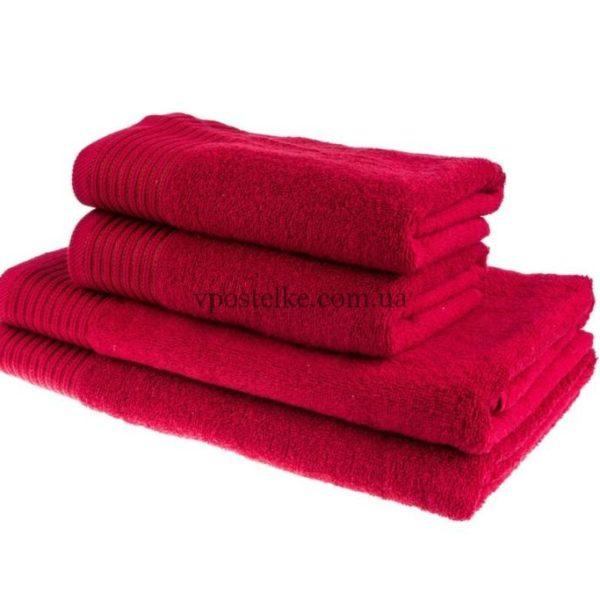 Полотенце махровое Терри Люкс бордовый