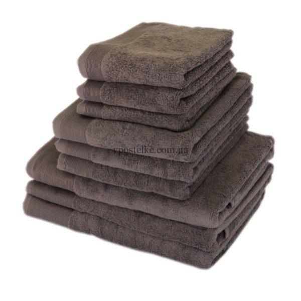 "Полотенце махровое ""СТАЙЛ (STYLE)"" 500 серо коричневый"