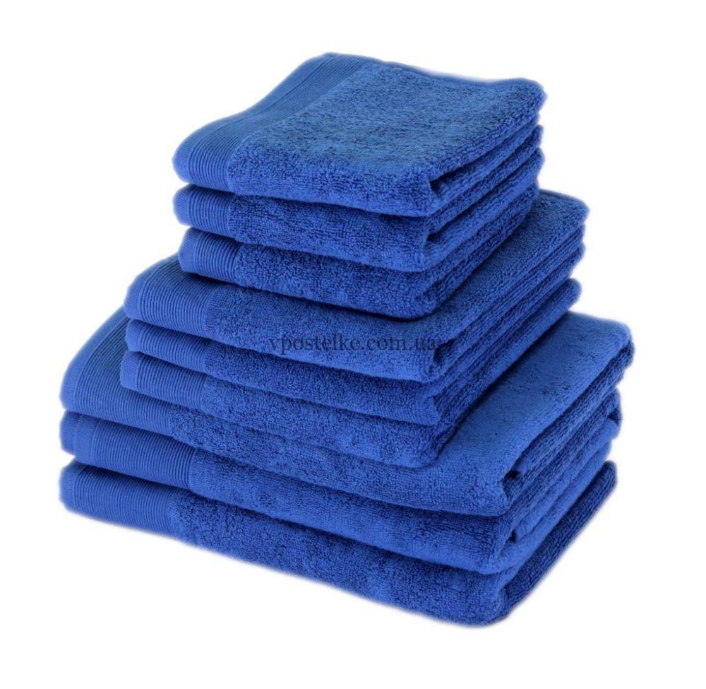 """Полотенце махровое """"СТАЙЛ (STYLE)"""" 500 синее"""