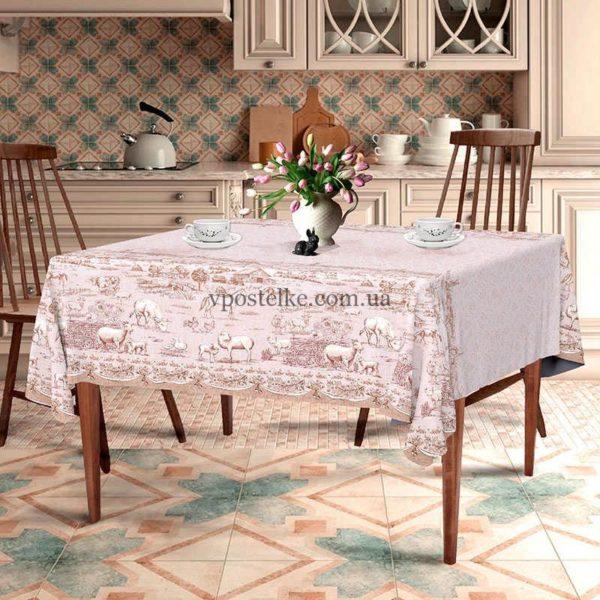 """Скатерть для стола """"Деревенька"""""""