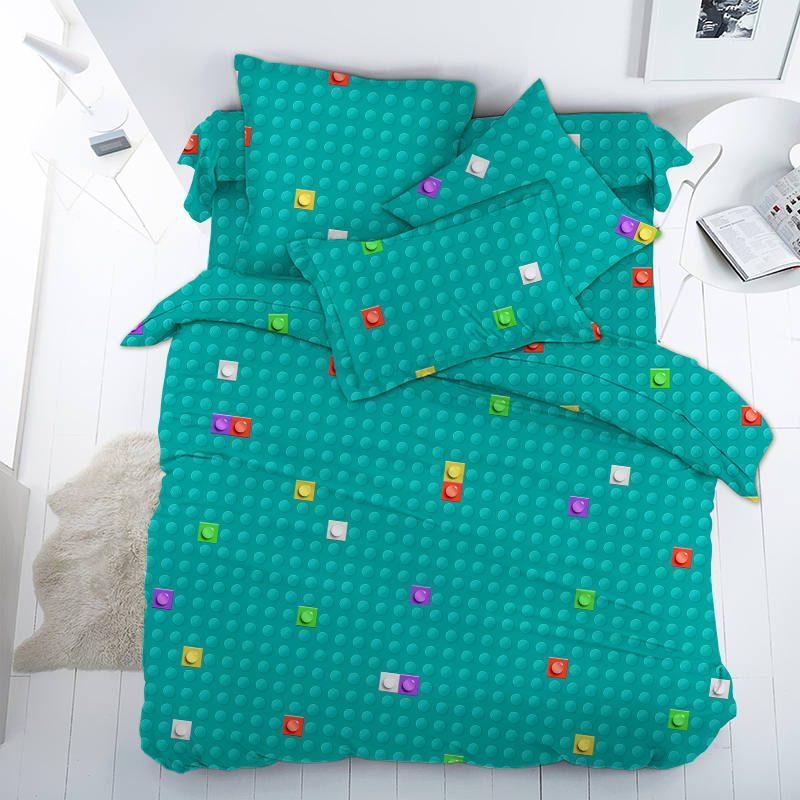 Ткань поплин «Лего (LEGO)» компаньон 150 см