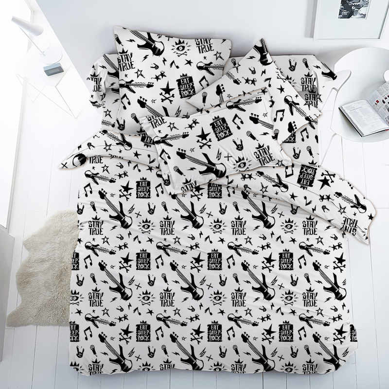 Ткань поплин «Рок звезда» 150 см