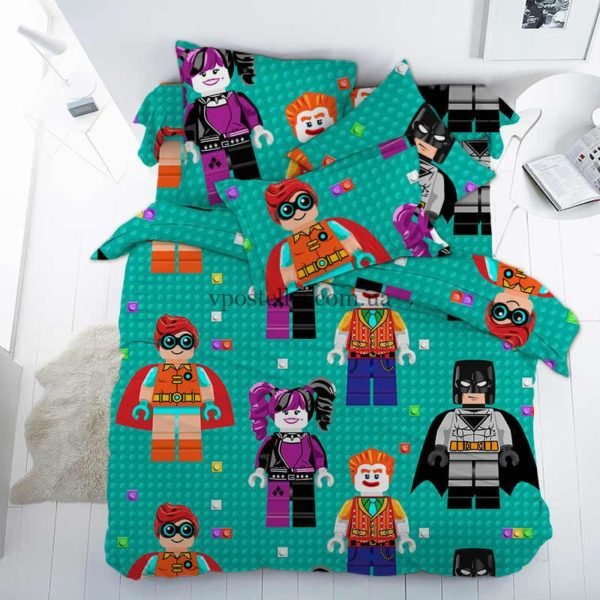 """Ткань поплин """"Лего (LEGO)"""" основа 150 см"""