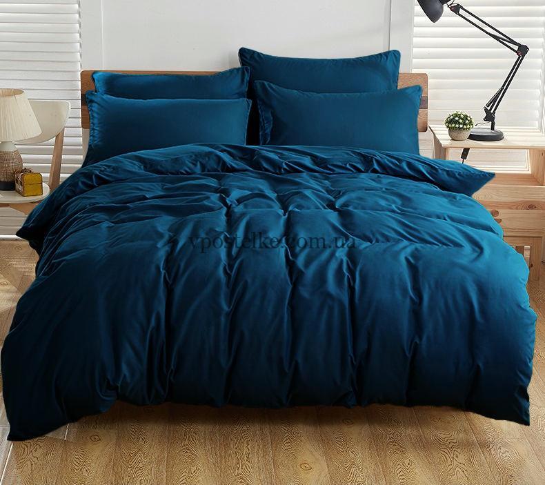 Ткань поплин тёмно синий 220 см