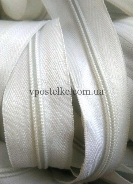 Застёжка-молния спиральная 3 мм белая