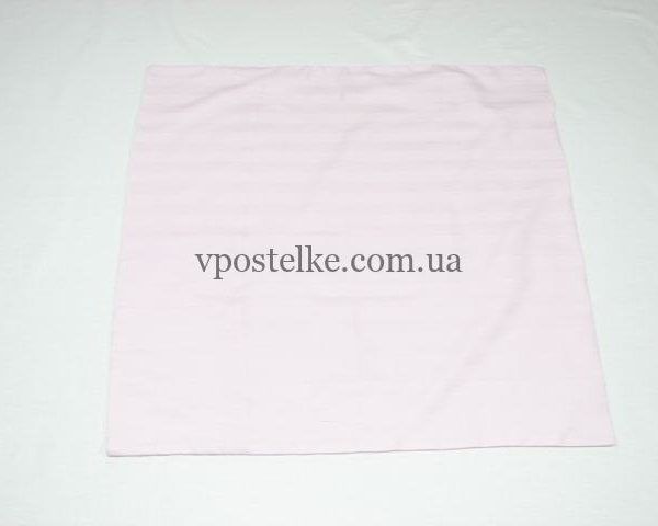 Наволочка розовый страйп сатин 70*70 см