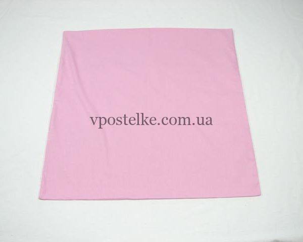 Наволочка розовая 70*70 см