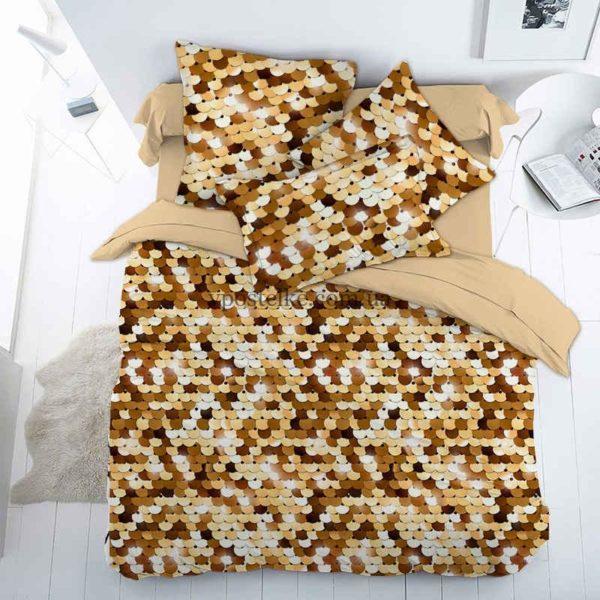 Ткань поплин «Пайетки» 150 см