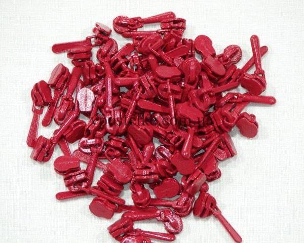 Замок для спиральной молнии 4 мм красный