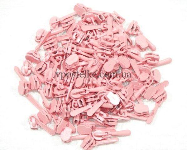 Замок для спиральной молнии 4 мм розовый