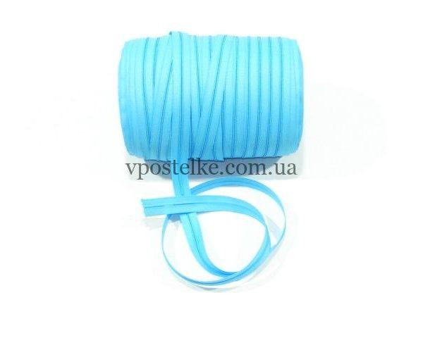 Застёжка-молния спиральная 4 мм голубая