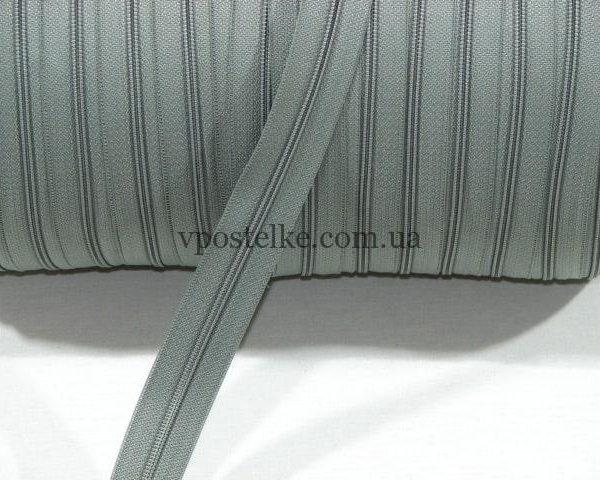 Застёжка-молния спиральная 4 мм серая