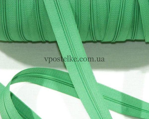 Застёжка-молния спиральная 4 мм зелёная