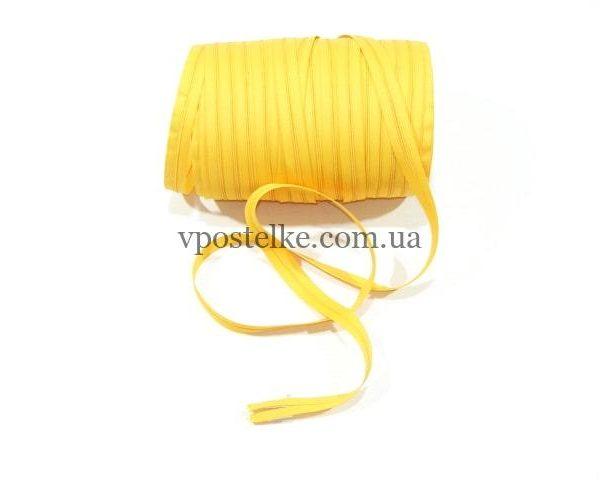 Застёжка-молния спиральная 4 мм жёлтая