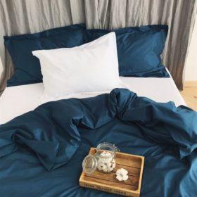 Двухцветное постельное белье из сатина