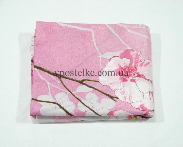 Простыня Ветка сакуры розовая 180*220 см