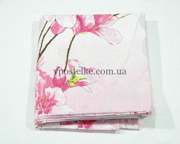 Простыня Ветка сакуры розовая 190*220 см