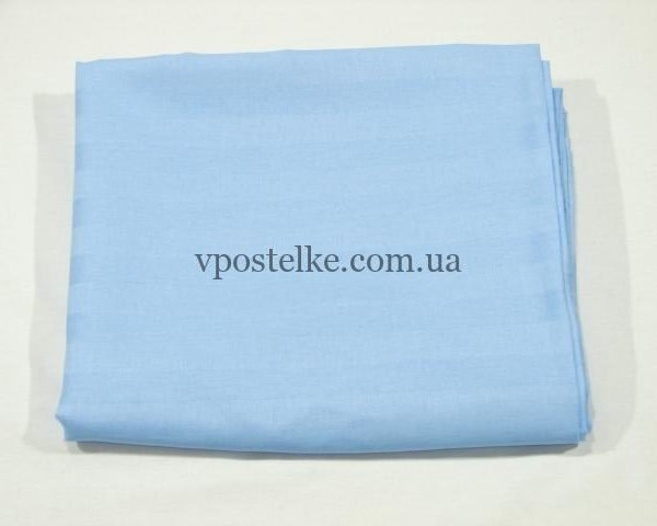 Простыня Голубой страйп сатин 220*240 см