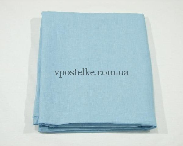 Простыня Льняная простыня синего цвета 140*260 см