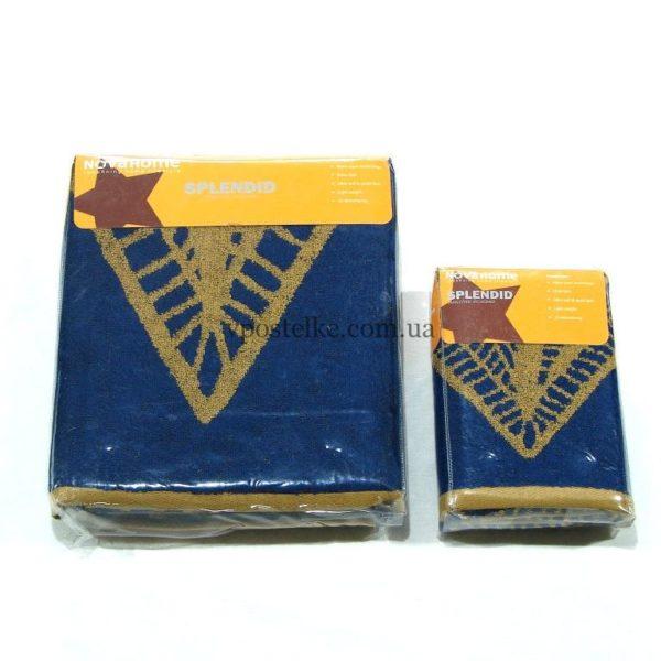 Полотенце махровое Desing F8 золотые ромбы
