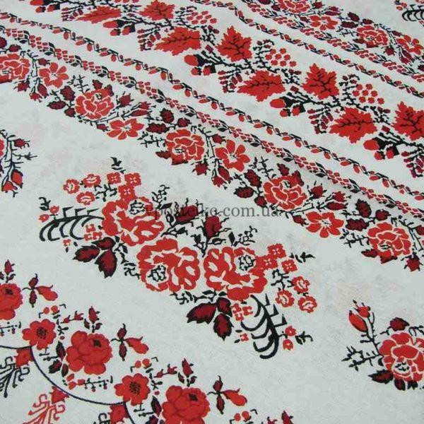 Бязь для постельного белья с маками и розами Украиночка  220 см