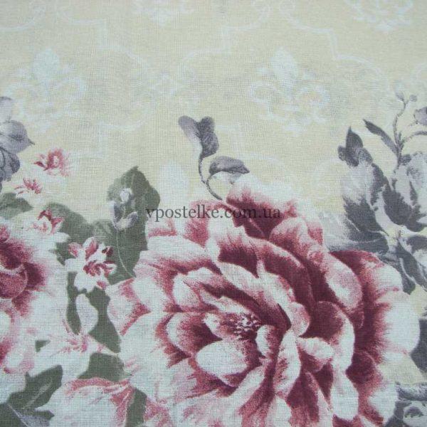 Бязь для постельного белья Анталия, розы 220 см