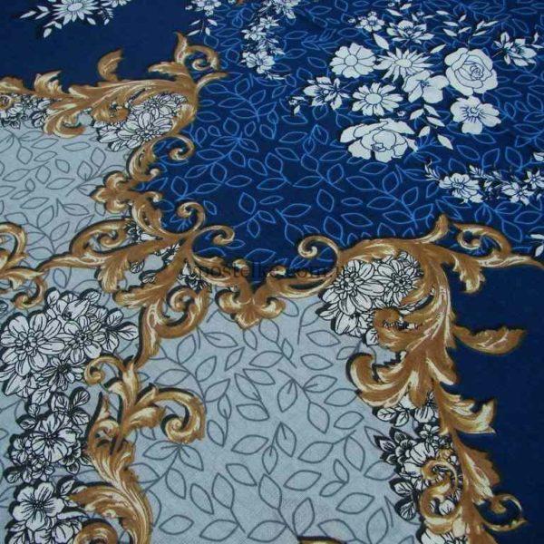 Бязь в синих тонах для постельного белья Кипр 220 см