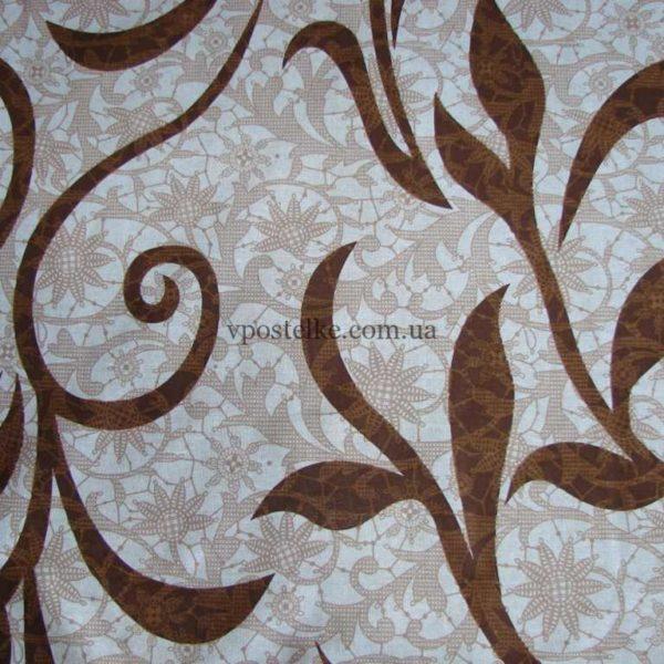 Постельное белье из бязи «Греческие мифы» коричневый вензель