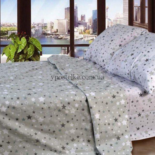 Фланель со звёздочками на белом фото