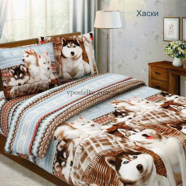 Бязь для постельного белья Хаски 3Д  220 см