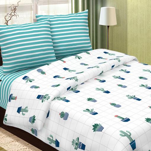 Светящееся постельное белье из поплина Кактусы