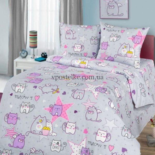 Бязь для постельного белья с котиками Мурчики Мяу-Мяу