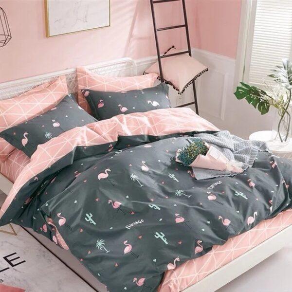 """Постельное белье из фланели """"Розовый фламинго"""""""