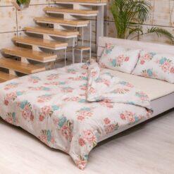 Постельное белье Эрзурум, цветы роз, хризантема