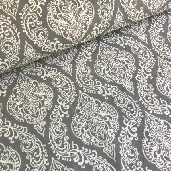 Тефлоновая ткань DUCK водоотталкивающая Роспись на сером