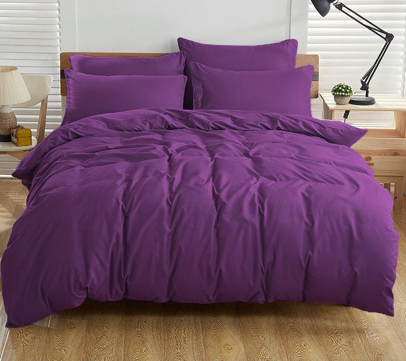 Однотонное постельное белье ранфорс