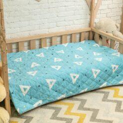 Покрывало на кровать детское геометрия на голубом