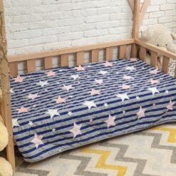 Покрывало на кровать детское Звёзды и полосы