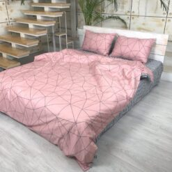Постельное белье Шебби, паутинка на розовом