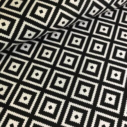 Тефлоновая ткань DUCK водоотталкивающая Ромбы чёрные