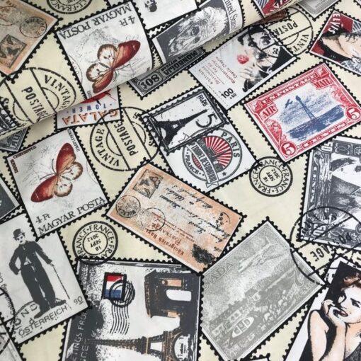 Тефлоновая ткань DUCK водоотталкивающая Почтовые марки